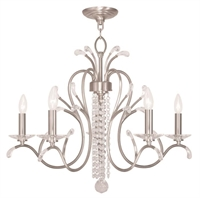 Picture for category Livex 51005-91 Serafina Chandeliers Brushed Nickel 5-light