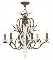 Picture for category Livex 51006-71 Serafina Chandeliers Hand Applied Venetian Golden Bronze