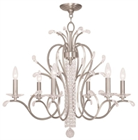 Picture for category Livex 51006-91 Serafina Chandeliers Brushed Nickel 6-light