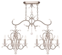 Picture for category Livex 51007-91 Serafina Island Lighting 20in Brushed Nickel