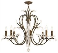 Picture for category Livex 51008-71 Serafina Chandeliers Hand Applied Venetian Golden Bronze
