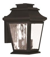 Picture for category Livex 20232-04 Hathaway Outdoor Wall Sconces 8in Black 2-light