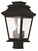Picture for category Livex 20234-04 Hathaway Outdoor Post Light Black 2-light
