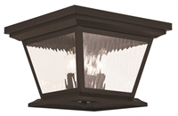 Picture for category Livex 20249-07 Hathaway Outdoor Flush Mount Bronze 4-light