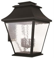 Picture for category Livex 20251-04 Hathaway Outdoor Wall Sconces 21in Black 6-light