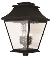Picture for category Livex 20254-04 Hathaway Outdoor Post Light Black 6-light