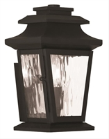 Picture for category Livex 20255-04 Hathaway Outdoor Wall Sconces 7in Black 1-light