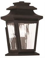 Picture for category Livex 20255-07 Hathaway Outdoor Wall Sconces 7in Bronze 1-light
