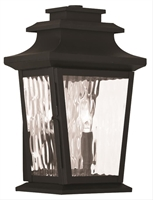 Picture for category Livex 20256-04 Hathaway Outdoor Wall Sconces 8in Black 2-light