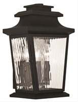 Picture for category Livex 20257-04 Hathaway Outdoor Wall Sconces 10in Black 3-light