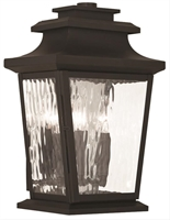 Picture for category Livex 20257-07 Hathaway Outdoor Wall Sconces 10in Bronze 3-light