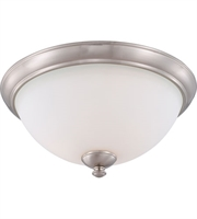 Picture for category Nuvo 60/5041 Patton Ceiling Medallion Lighting 16in Brushed Nickel Iron Frosted