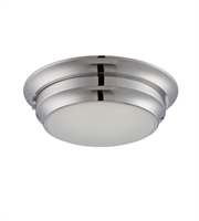 Picture for category Nuvo 62/154 Dash Ceiling Medallion Lighting 14in Brushed Nickel Metal Frosted