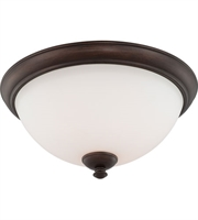 Picture for category Nuvo 60/5141 Patton Ceiling Medallion Lighting 16in Prairie Bronze Iron Frosted