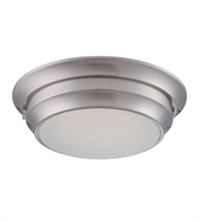Picture for category Nuvo 62/156 Dash Ceiling Medallion Lighting 14in Polished Nickel Metal Frosted