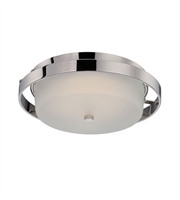 Picture for category Nuvo 62/182 Cirque Ceiling Medallion Lighting 15in Polished Nickel Metal