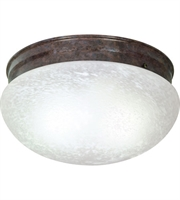 Picture for category Nuvo SF76/676 Large Alabaster Mushroom Glass Flush Mounts 12in Old Bronze