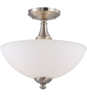 Picture for category Nuvo 60/5044 Patton Ceiling Medallion Lighting 13in Brushed Nickel Iron Frosted