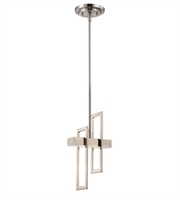 Picture for category Nuvo 62/106 Frame Pendants 6in Brushed Nickel Metal Frosted Glass