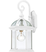 Picture for category Nuvo 60/4961 Boxwood Outdoor Lighting Lamps 8in White Aluminum Clear Beveled