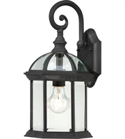Picture for category Nuvo 60/4963 Boxwood Outdoor Lighting Lamps 8in Textured Black Aluminum 1-light