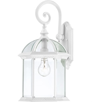 Picture for category Nuvo 60/4964 Boxwood Outdoor Lighting Lamps 10in White Aluminum Clear Beveled