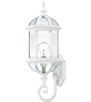 Picture for category Nuvo 60/4971 Boxwood Outdoor Lighting Lamps 8in White Aluminum Clear Beveled
