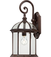 Picture for category Nuvo 60/4965 Boxwood Outdoor Lighting Lamps 10in Rustic Bronze Aluminum 1-light