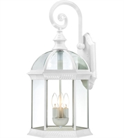 Picture for category Nuvo 60/4967 Boxwood Outdoor Lighting Lamps 13in White Aluminum Clear Beveled