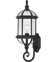 Picture for category Nuvo 60/4973 Boxwood Outdoor Lighting Lamps 8in Textured Black Aluminum 1-light