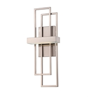 Picture for category Nuvo 62/105 Frame Wall Lantern 8in Brushed Nickel Metal Frosted Glass