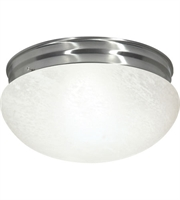 Picture for category Nuvo SF76/677 Large Alabaster Mushroom Glass Flush Mounts 12in 2-light