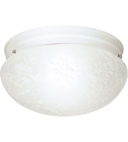 Picture for category Nuvo SF76/614 Large Alabaster Mushroom Glass Flush Mounts 12in 2-light