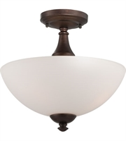 Picture for category Nuvo 60/5144 Patton Ceiling Medallion Lighting 13in Prairie Bronze Iron Frosted