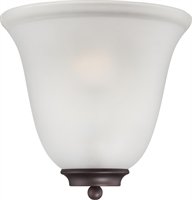 Picture for category Nuvo 60/5375 Empire Wall Lantern 10in Mohogany Bronze Frosted Glass 1-light