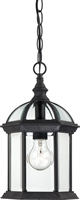 Picture for category Nuvo 60/4979 Boxwood Outdoor Lighting Lamps 8in Textured Black Clear Beveled