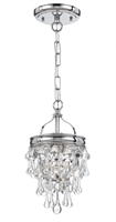 Picture for category Crystorama 131-CH Calypso Pendants 8in Polished Chrome Brass 1-light