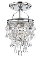 Picture for category Crystorama 131-CH_CEILING Calypso Semi Flush 8in Polished Chrome Brass 1-light