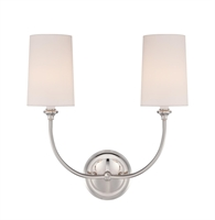Picture for category Crystorama 2242-PN Libby For Crystorama:sylvan Wall Sconces 16in Steel 2-light
