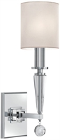 Picture for category Crystorama 8101-PN Paxton Wall Sconces 5in Polished Nickel Steel + Crystal