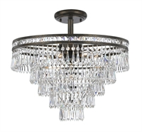 Picture for category Crystorama 5264-EB-CL-MWP_CEILING Mercer Semi Flush 20in English Bronze 7-light