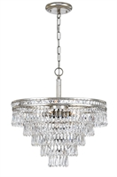 Picture for category Crystorama 5264-OS-CL-MWP Mercer Chandeliers 20in Olde Silver Steel + Crystal