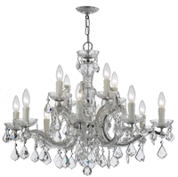 Picture for category Crystorama Lighting 4379-CH-CL-SAQ Chandelier  from the maria theresa collection