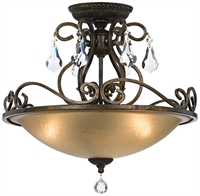 Picture for category Crystorama 5010-EB-CL-MWP Ashton Flush Mounts 17in English Bronze 3-light