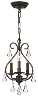 Picture for category Crystorama 5013-EB-CL-MWP Ashton Mini Chandeliers 10in English Bronze 3-light