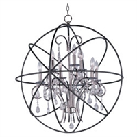 Picture for category Maxim 25145ARPN Orbit Chandeliers 30in METAL 9-light