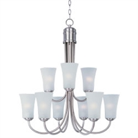 Picture for category Maxim 10046FTSN Modern Chandeliers 29in 9-light