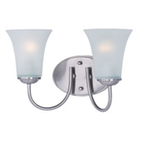 Picture for category Maxim 10052FTSN Modern Bath Lighting 14in 2-light