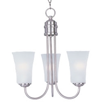 Picture for category Maxim 10043FTSN Modern Chandeliers 17in 3-light