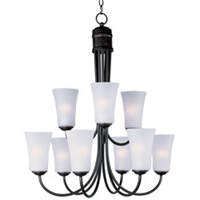 Picture for category Maxim 10046FTOI Modern Chandeliers 29in 9-light